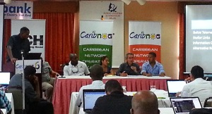 CaribNOG Program Lead Stephen Lee facilitates a session at CaribNOG 6, Belize, September 2013.