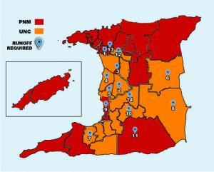 2007 Run off constituencies