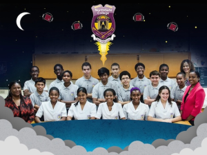 Students and teachers of NothGate College, St Augustine, Trinidad